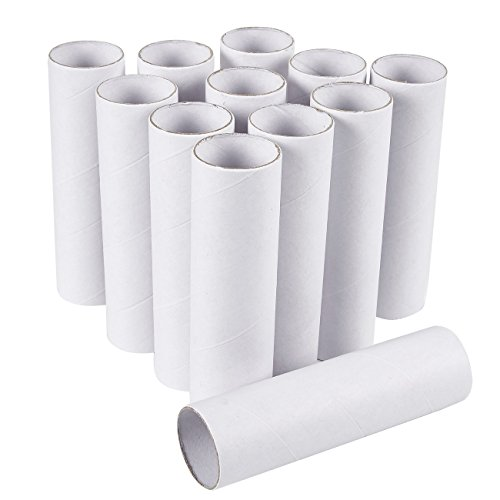 Craft Rolls - 12-Pack Cardboard Tubes for DIY Crafts, 5.9 Inches, White ()