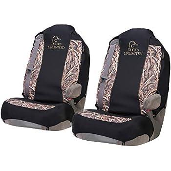BR63 Ducks Unlimited Low-Back Camo Bucket Seat Cover Mossy Oak Blades Camo