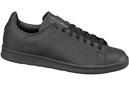 adidas Men's Originals Stan Smith Sneaker, Core Black/Black/Black, 11 M -