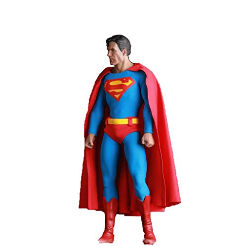 (DUDDP Anime Character Anime Character Model Birthday Gift Movie Version Superman Model 15.7-inch Superman Adult Children's Toys, Boy Gifts Anime Toys)