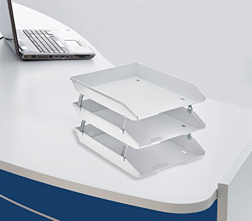 Acrimet Facility Triple Letter Tray Frontal (White Color) Photo #2