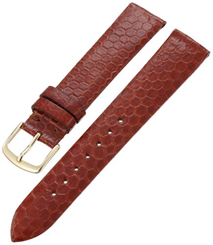 Hadley-Roma Men's MSM705RR-180 18-mm Tan Genuine Water Snakeskin Leather Watch Strap