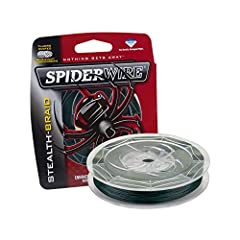 Spiderwire Braided Stealth Superline, Moss Green, 20 Pound, 500 Yards, delivers smooth and quiet performance to give you the upper hand. Made with Dyneema ultra-high molecular weight polyethylene fibers. These strong, smooth, and round fluoro...