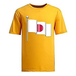 Custom Mens Cotton Short Sleeve Round Neck T-shirt, Printed with World Cup Images yellow by supermalls