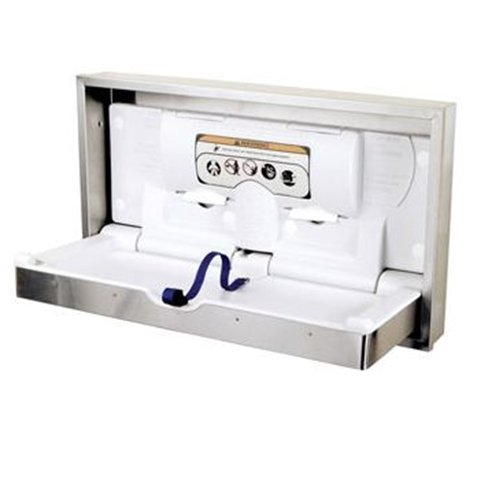 DryBaby Baby Changing Station Finish: Stainless Steel, Mount Type: Recessed Horizontal