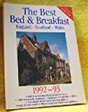 The Best Bed and Breakfast in England, Scotland, and Wales, 1992-1993, Sigourney Welles, 0871062453