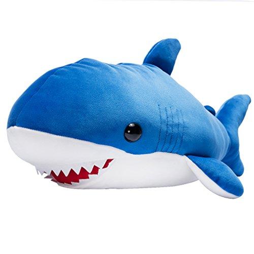 Blue Baby Plush (LALA HOME Neat Soft Shark Stuffed Animal | 28'' Plush Ocra Fish Toy | Large Shark Body Hugging Pillow | Children's Gifts)