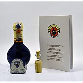 Rossi Barattini Affinato Highest Quality 12 Year Aged Balsamic Vinegar of Modena 9 ✅ TRADITIONAL ARTISAN BALSAMICO - Rossi Barattini Affinato garnered top scores from the consortium.  The only ingredient in this balsamic vinegar is grape must and the finished product comes bottled in a traditional 100ml glass bottle. ✅ METICULOUSLY AGED FOR 12 YEARS - Intricate detail goes into creating this high-end balsamic vinegar.  The grapes are cooked over an open flame, left to ferment for a few weeks then aged for a minimum of 12 years in a variety of wood barrels. ✅ KNOW WHERE YOUR PRODUCT COMES FROM - This premium balsamic vinegar carries a D.O.P. certification.  That means the European Union has certified that this vinegar is crafted in Modena, Italy.