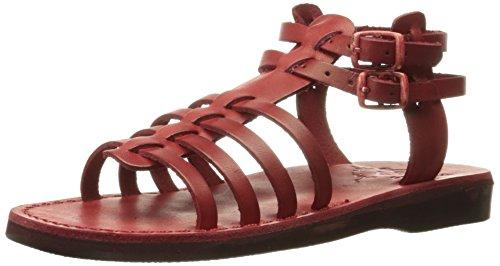 Jerusalem Sandals Red Sandal Gladiator Women Leah 4qBaxC6qfw