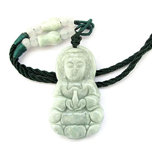 Jadeite Jade Tibetan Buddhist Mercy Kwan-yin Amulet Pendant