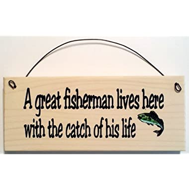A Great Fisherman Lives Here with the Catch of His Life ... Fish Design