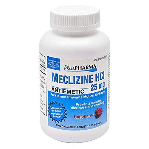 Meclizine Hcl 25mg 1000 Chewable Tablets by PlusPharma