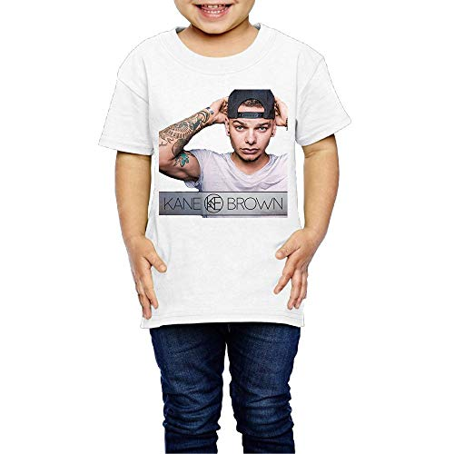 Baby Kane Brown Fashion Short Sleeve Top T Shirt Boys Girls Vintage Shirt 5-6 Toddler White