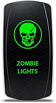 Amazon Com Ch4x4 Rocker Switch Zombie Light Symbol Green Led Automotive
