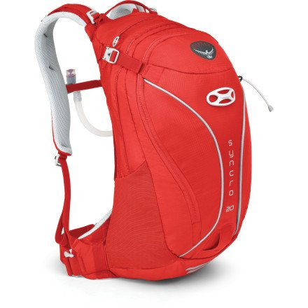 Osprey Packs Syncro 20 Hydration Pack – 1098-1220cu in Pyro Red, M/L, Outdoor Stuffs