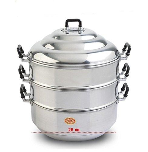 - 28 cm Aluminium Steamer cookware Thai pot vegetable seafood cooker vintage oven set711A