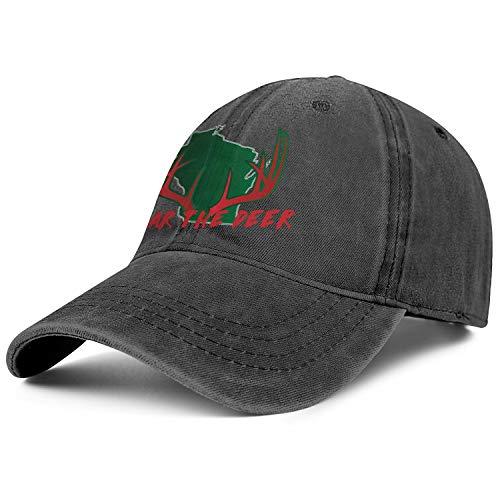 - Milwaukee State Map Deer Antler Men Or Women Trucker Retro Cotton Washed Adjustable Fits Hat
