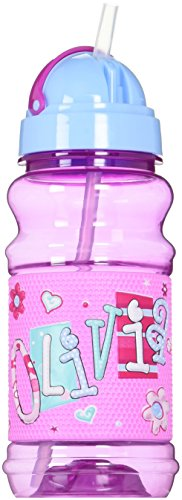 John Hinde Drink Bottle with Straw, Olivia