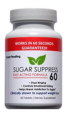 SUGAR SUPPRESS 60 - Stops Sweet Cravings In 60 Seconds...Guaranteed