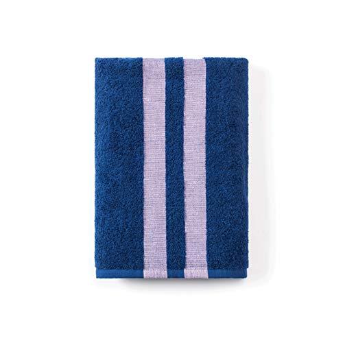 Calvin Klein Home George Bath Towel Cobalt/Pink