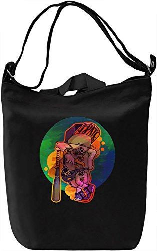 Colourful Skater Borsa Giornaliera Canvas Canvas Day Bag| 100% Premium Cotton Canvas| DTG Printing|