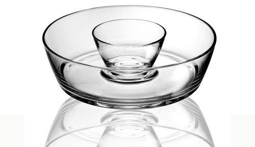 Luigi Bormioli RM104 Michelangelo 2 Pc Chip-n-Dip Set, 0, Clear