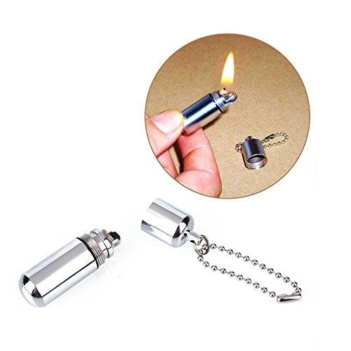 Gold Bug Harness (Ezyoutdoor 1 Pieces of Survival Waterproof Peanut Capsule Lighter Cigarette Cigar Refillable Oil Lighter Torch Key Chain)