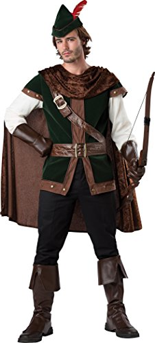 Fun World Men's Robin Hood Costume, Dark Brown/Green, (Robin Hood Tunic)