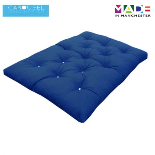 Double | 2 Seater | Memory Foam Futon Mattress | Roll Out Bed | Guest Bed | Dark Blue | 190cm x 125cm | UK Manufactured | 9 Colours Available | 3 Sizes Available Carousel Foam