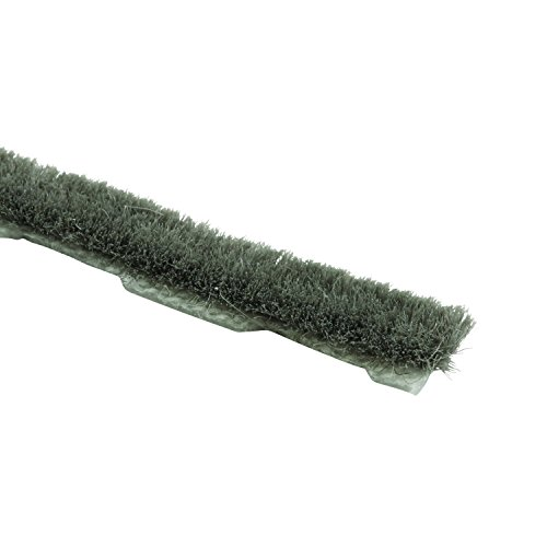 Prime-Line Products T 8658 Window & Door Weatherstrip with 3/16 inch Wool Pile, 18 Feet, Gray