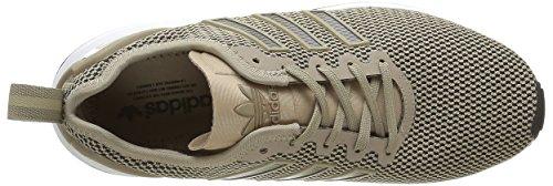 adidas Herren ZX Flux ADV Sneakers, Braun Gold (Gold/White/Black)
