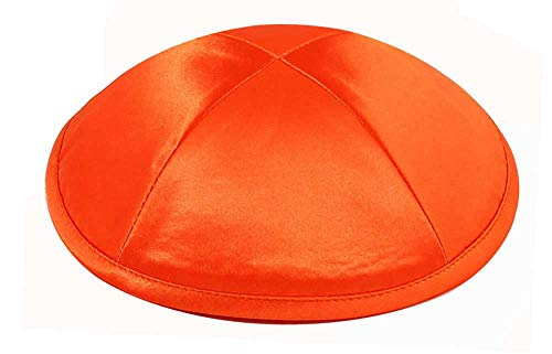 Zion Judaica Deluxe Satin Kippot for Affairs or Everyday Use Single or Bulk Orange