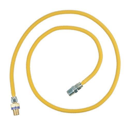 BrassCraft CSSL44R-60 P Safety PLUS Gas 3/8'' OD Connector with 1/2'' MIP EFV x 1/2'' MIP x 60'' by BrassCraft (Image #1)