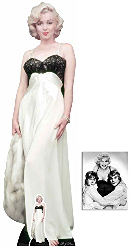 Fan Pack - Marilyn Monroe White Gown and Fur Lifesize and Mini Cardboard Cutout / Standup / Standee - Includes 8x10 Star ()