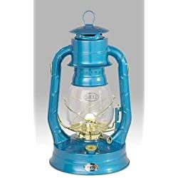 Dietz #8 Air Pilot Oil Burning Lantern (Blue with Gold)