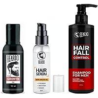 Beardo Complete Hair Fall Control Kit (Growth Oil, Hair Serum and Hair Fall Control Shampoo)