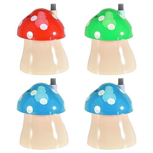 (Toothpick Holder, 4 Pack Cute Mushroom Automatic Toothpick Dispenser Holders Plastic Portable Toothpicks Organizer Storage Box Case Random Color)