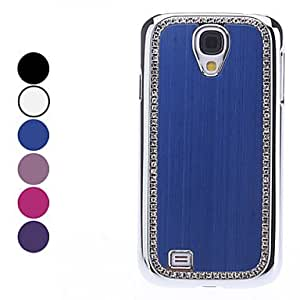 Solid Color Hard Case with Rhinestone for Samsung Galaxy S4 I9500 (Assorted Colors) - COLOR#Purple