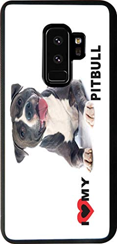 Rikki Knight Cell Phone Case for Galaxy S9 Plus - I Love My Black Pitbull Dog Design from Rikki Knight