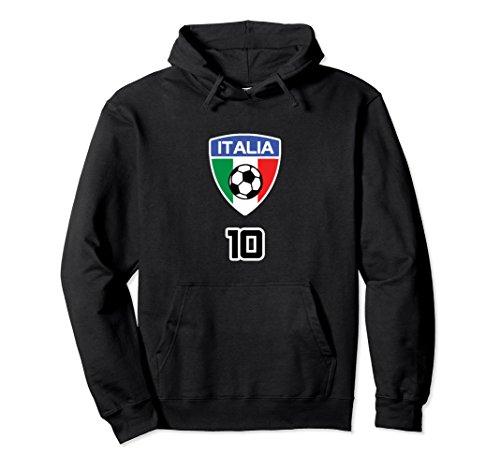 Unisex ITALIA CALCIO SWEATSHIRT FORZA AZZURRI FOOTBALL BLUE SOCCER Small Black (Red Napoli Shirt)