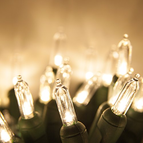 120 Warm White Led Traditional Christmas Tree Lights - 6