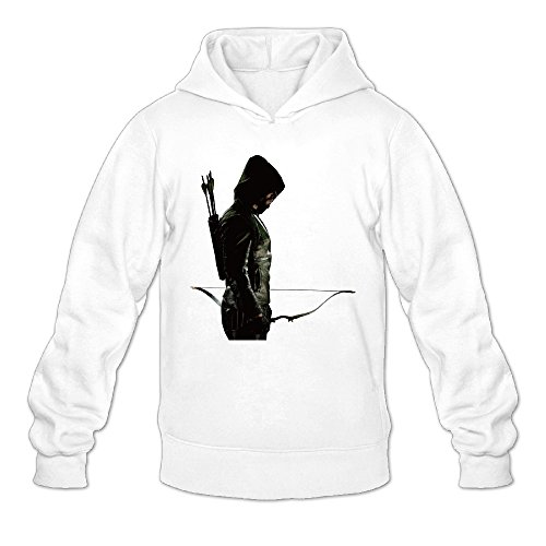 Men's Green Arrow Superhero Hoodie Design (Donnie Darko Superhero)