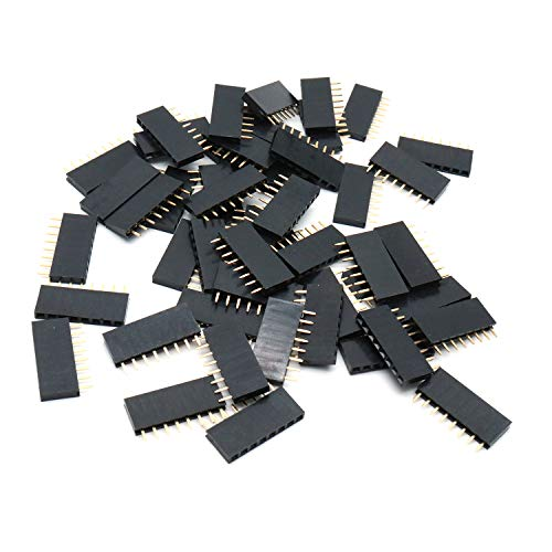 (Yohii Female Pin Headers 2.54mm Pitch 8 Pins Single Row - Pack of 50)