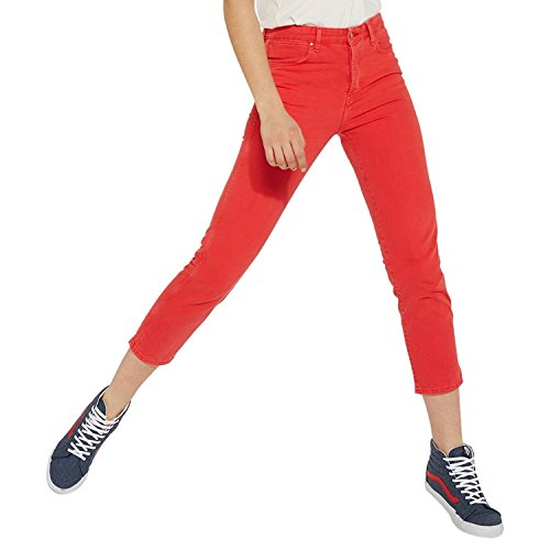 Wrangler Cropped Straight, Jeans Rectos para Mujer Cropped Red 23k