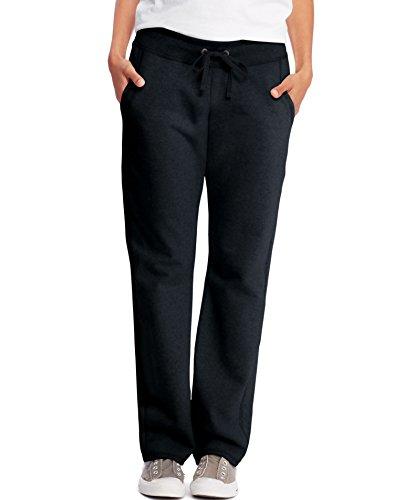 - Hanes Womens French Terry Pocket Pant O4677_Black_XL