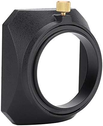 Haofy レンズフードカメラレンズフード46ミリメートルスクエアレンズフードシェード用DVビデオカメラデジタルビデオカメラレン