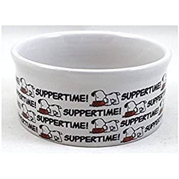 Pet Supplies Peanuts Dog Bowl Suppertime Large 7