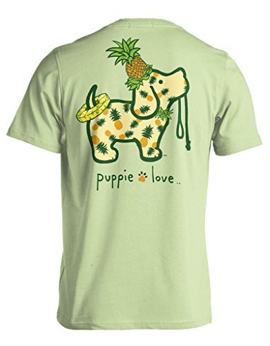 (Puppie Love Pineapple Pup Adult Short Sleeve (Small, Mint-Green))