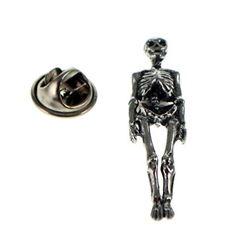 Pirate Skeleton Pewter Lapel Pin Badge (Pewter Skeleton)