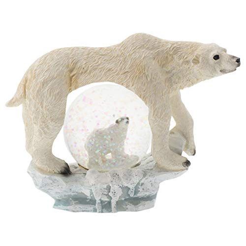 - Elanze Designs Fierce White Polar Bear Figurine 45MM Glitter Water Globe Decoration